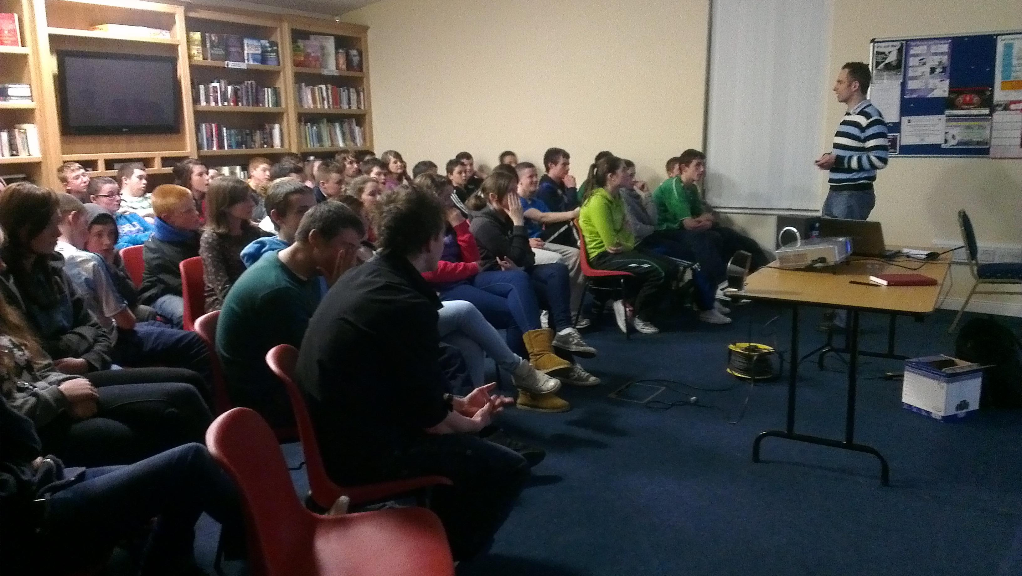 Niall Mulrine talks about Cyber-bullying tips in Magheraroarty